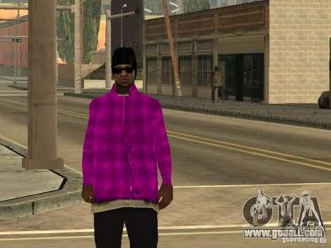 New skins Ballas for GTA San Andreas fifth screenshot