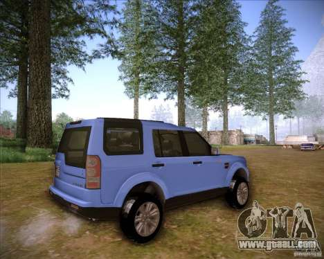Land Rover Discovery 4 for GTA San Andreas left view