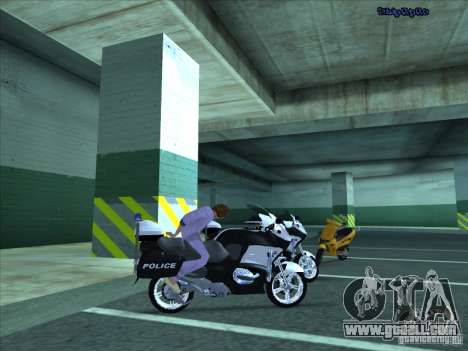 CopBike for GTA San Andreas back view