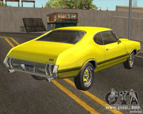 Oldsmobile 442 (fixed version) for GTA San Andreas back left view