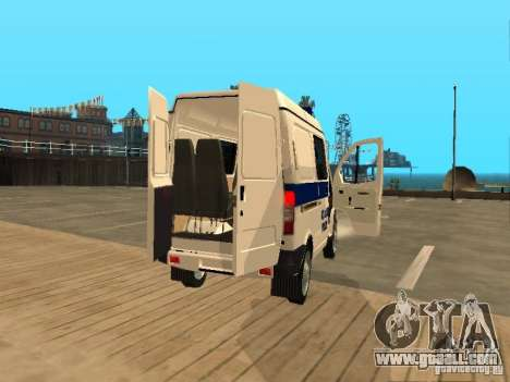 GAZ 2217 Sobol POLICE for GTA San Andreas back view