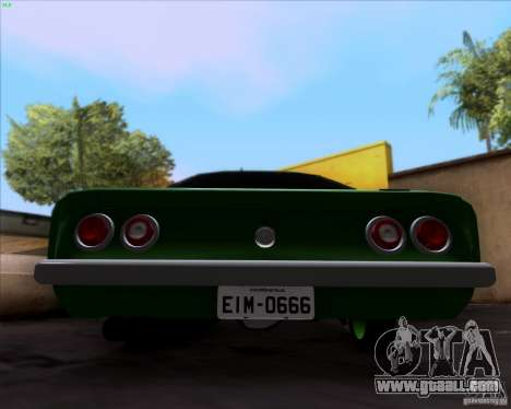 Chevrolet Opala 6CC 1979 for GTA San Andreas back view