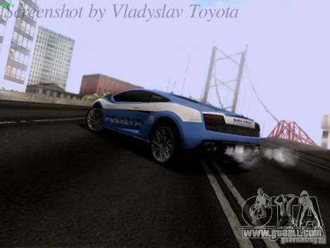 Lamborghini Gallardo LP560-4 Polizia for GTA San Andreas back left view