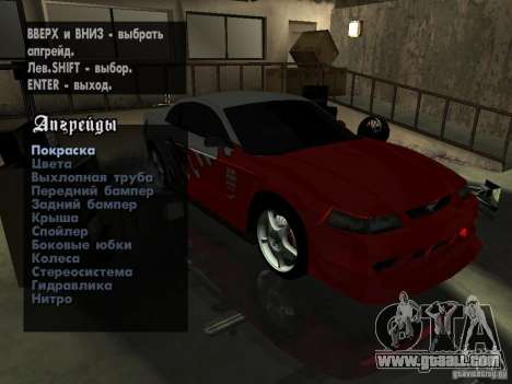 Ford Mustang Cobra R Tuneable for GTA San Andreas back view