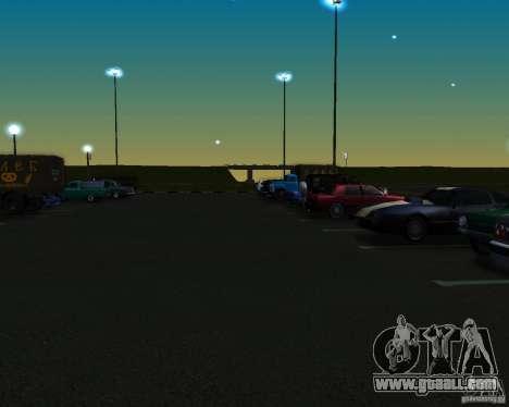 Cars in the parking lot at Anašana for GTA San Andreas second screenshot