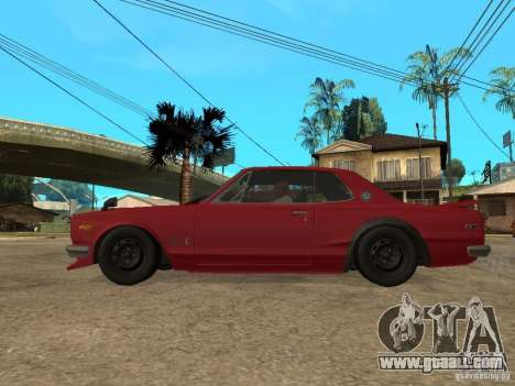 Nissan Skyline 2000 GT-R for GTA San Andreas left view