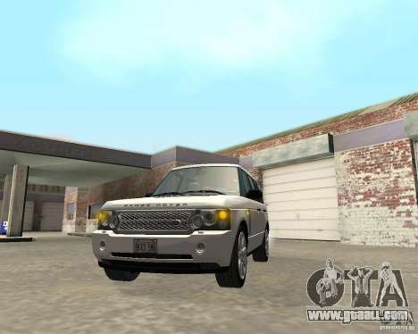 Land Rover Range Rover Supercharged 2008 for GTA San Andreas inner view