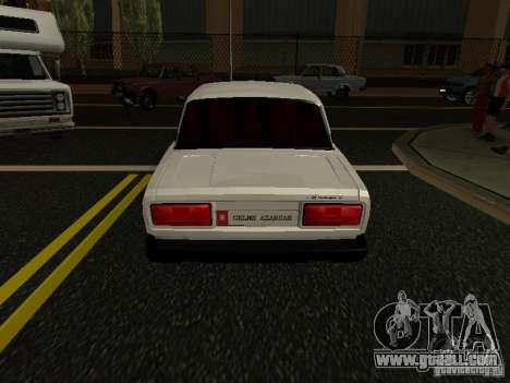 VAZ 2107 Avtosh Style for GTA San Andreas back left view