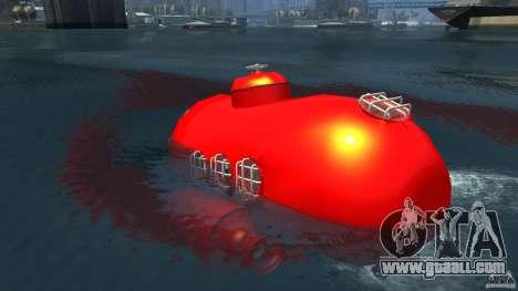 Submarine for GTA 4 back left view