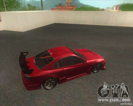 Nissan Silvia S15 with AKATSUKI paintjob for GTA San Andreas inner view