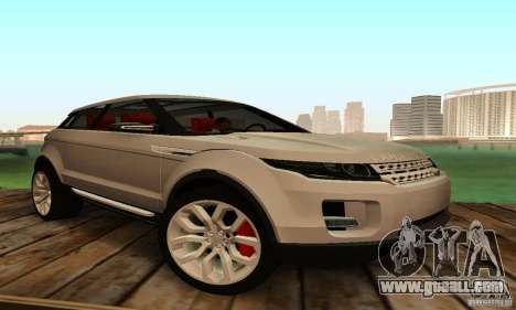 Land Rover Range Rover Evoque for GTA San Andreas