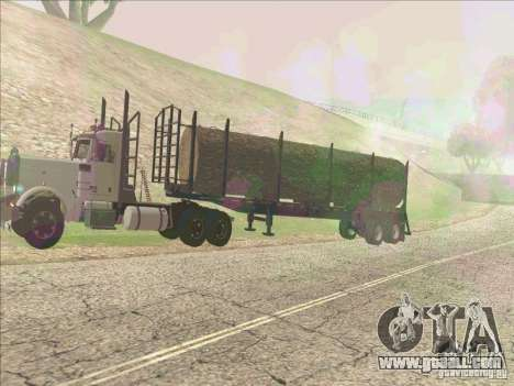 Trailer, Peterbilt 379 for GTA San Andreas left view