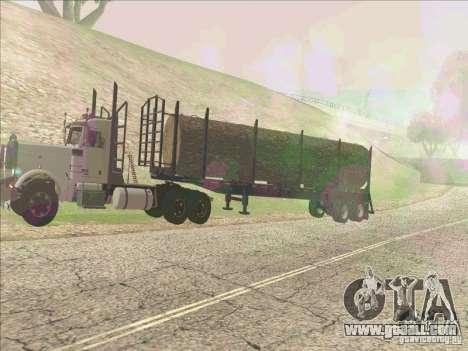 Trailer, Peterbilt 379 for GTA San Andreas left view
