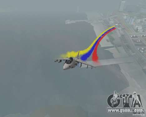 Multi colored strips for aircraft for GTA San Andreas