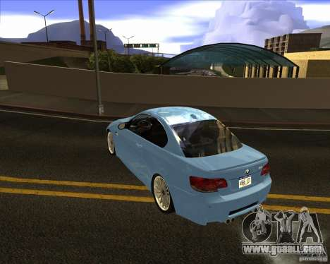 BMW M3 Convertible 2008 for GTA San Andreas back left view
