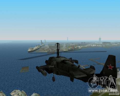 Ka-50 for GTA Vice City left view