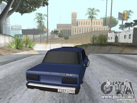 VAZ 2107 v2 for GTA San Andreas back left view