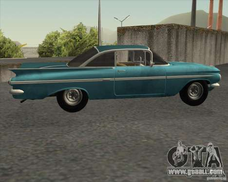 Chevrolet Impala Coupe 1959 Used for GTA San Andreas left view