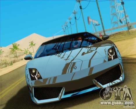 Lamborghini Gallardo LP560-4 for GTA San Andreas back view