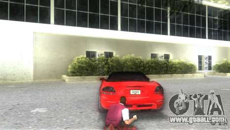 Dodge Viper SRT 10 Coupe for GTA Vice City left view