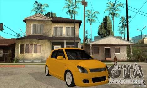 Suzuki Swift 4x4 CebeL Modifiye for GTA San Andreas back view