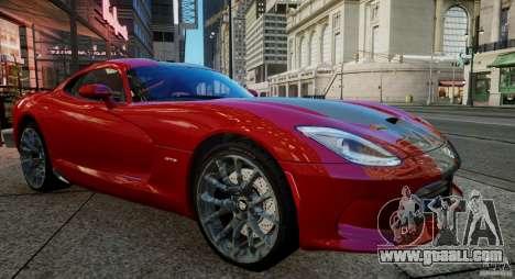 Dodge Viper GTS 2013 for GTA 4