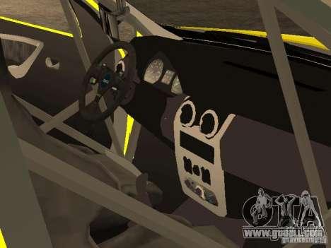 Dacia Sandero Speed Taxi for GTA San Andreas upper view