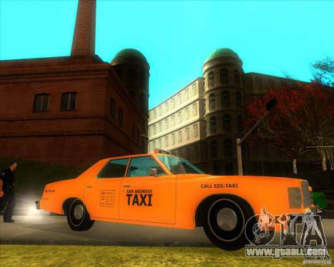 Ford Custom 500 4 door taxi 1975 for GTA San Andreas left view