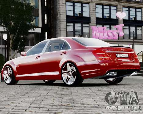 Mercedes-Benz S65 AMG 2010 Final for GTA 4 left view