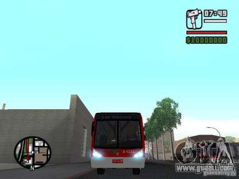 Caio Millennium TroleBus for GTA San Andreas inner view