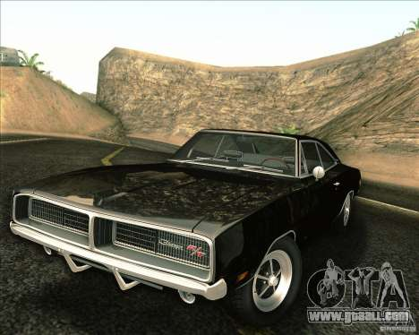 Dodge Charger RT 1969 for GTA San Andreas upper view