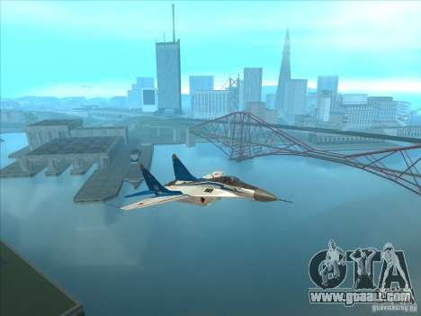 MiG-29 the Swifts for GTA San Andreas right view