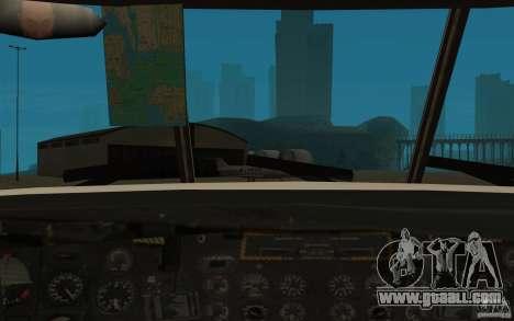 GTA SA Chinook Mod for GTA San Andreas side view