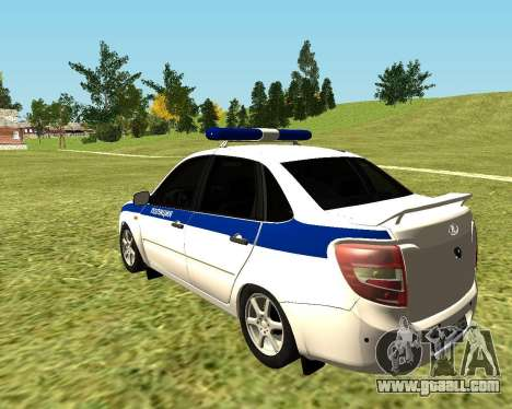 VAZ 2190 Police for GTA San Andreas left view