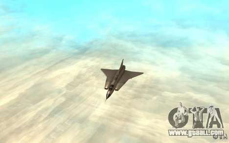 Saab J-35 Draken for GTA San Andreas left view