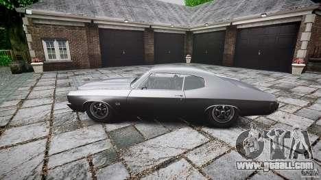 Chevrolet Chevelle SS 1970 for GTA 4 back left view