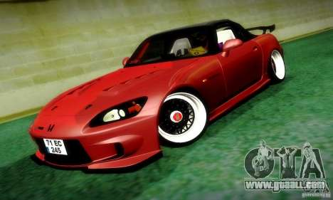 Honda S2000 JDM Tuning for GTA San Andreas back view