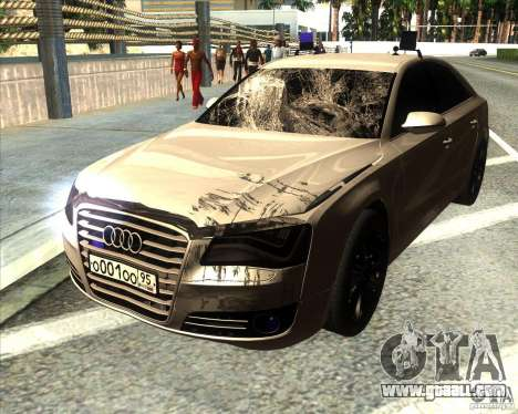Audi A8 2010 v2.0 for GTA San Andreas bottom view