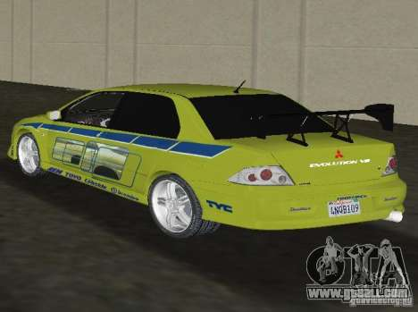 Mitsubishi Lancer Evolution VII for GTA Vice City left view
