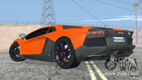 Lamborghini Aventador LP700-4 2012 for GTA San Andreas interior