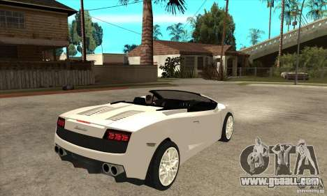 Lamborghini Gallardo Spyder v2 for GTA San Andreas right view