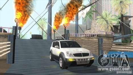 SsangYong Rexton 2005 for GTA San Andreas bottom view