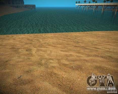 New textures beach of Santa Maria for GTA San Andreas forth screenshot