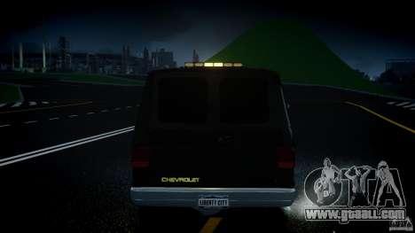Chevrolet G20 Police Van [ELS] for GTA 4 bottom view