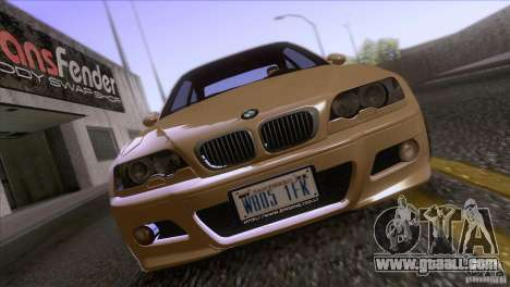 BMW M3 E48 for GTA San Andreas inner view
