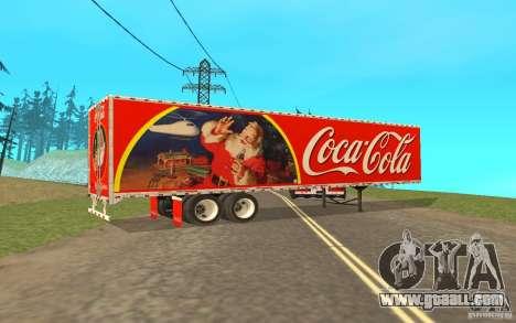 The semitrailer to the Peterbilt 379 Custom Coca for GTA San Andreas