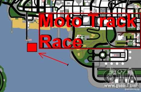 Moto Track Race for GTA San Andreas sixth screenshot