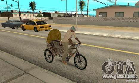 Manual Rickshaw v2 Skin4 for GTA San Andreas