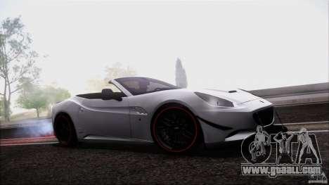 Ferrari California for GTA San Andreas back view