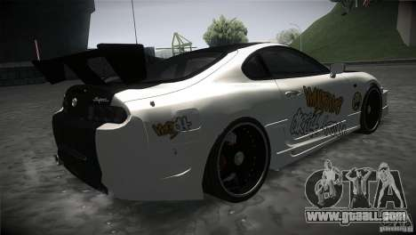 Toyota Supra MyGame Drift Team for GTA San Andreas right view